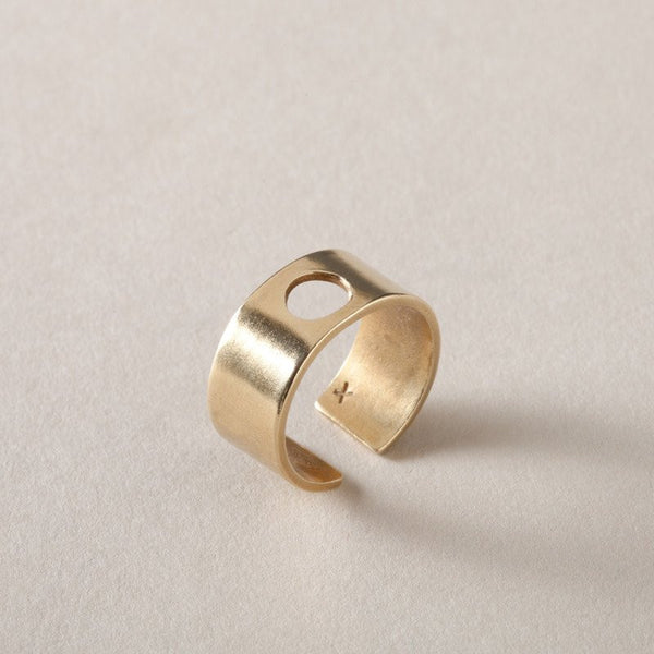 ring wide band in brass O