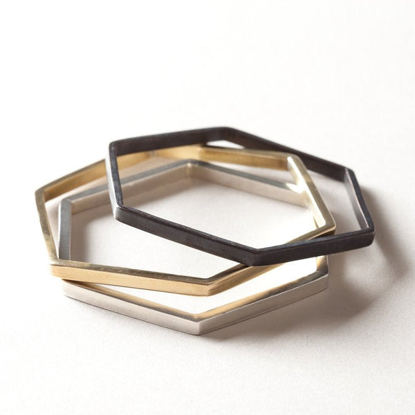 bangle brass hexagon