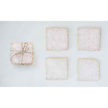 square agate coaster set - Piper & Chloe