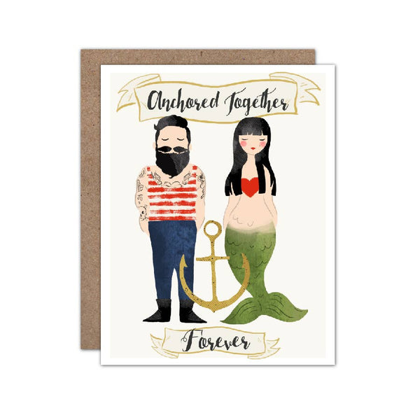 greeting card - anchored together forever
