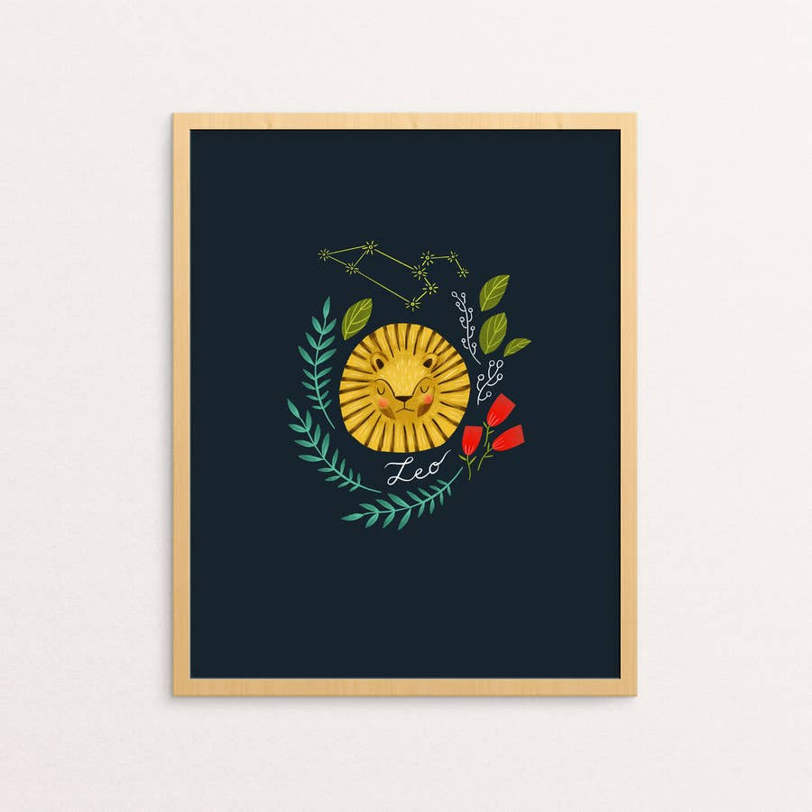 zodiac art print in leo - Piper & Chloe