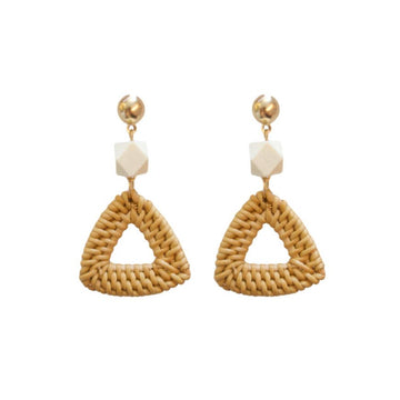 bali triangle earrings - Piper & Chloe