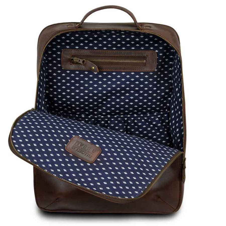 leather backpack in leon dots - Piper & Chloe