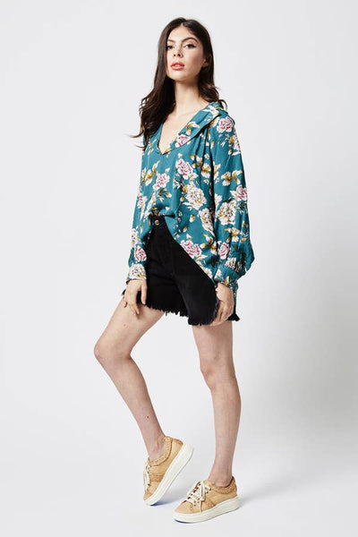 currency dolman top in mykala floral