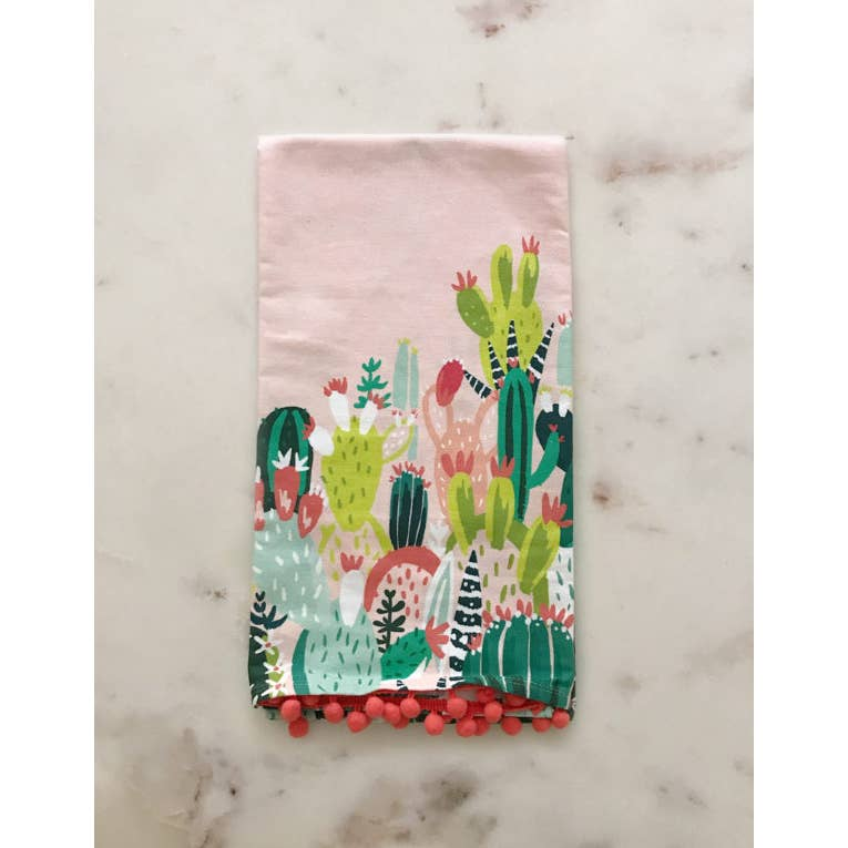 prickly pear tea towel - Piper & Chloe