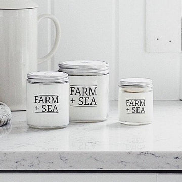 farm + sea candle in seagrass + cucumber - Piper & Chloe
