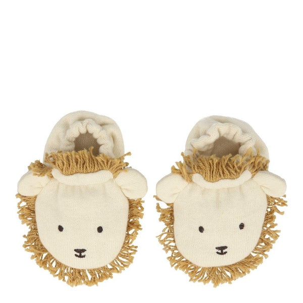 lion baby booties - Piper & Chloe