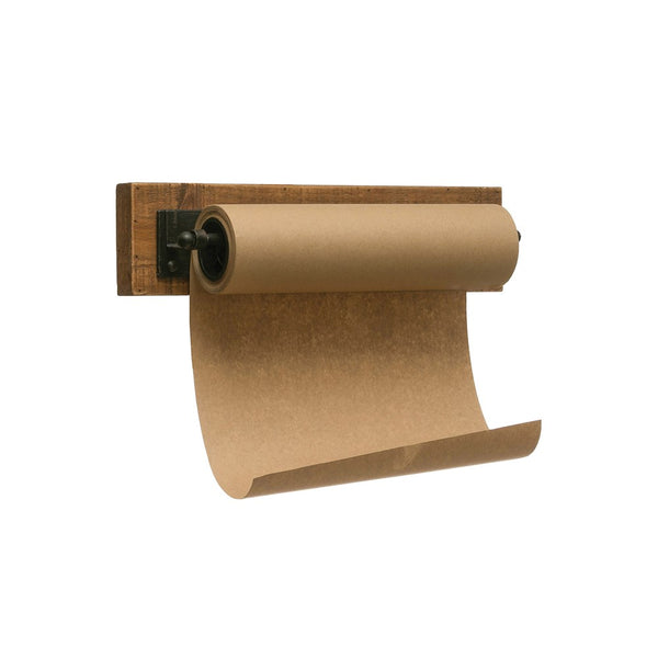 wood & metal wall mounted paper message roll - Piper & Chloe
