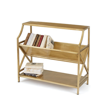 brass periodical shelf