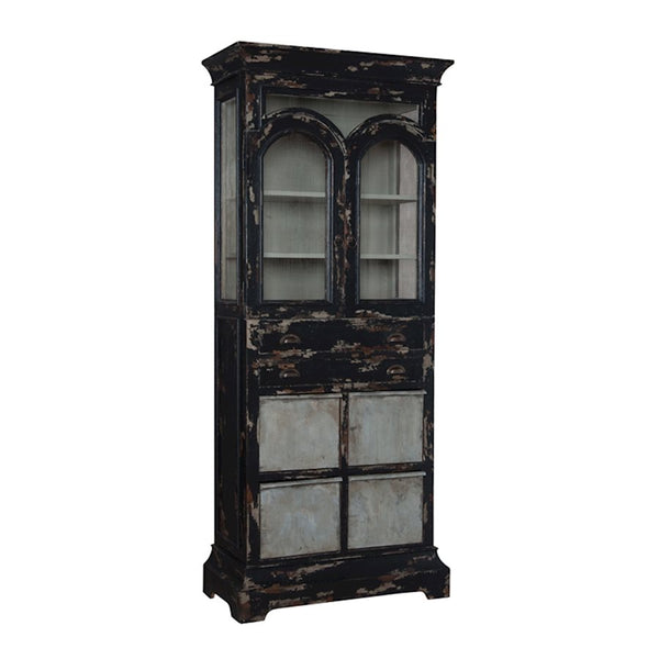farmhouse kitchen display cabinet