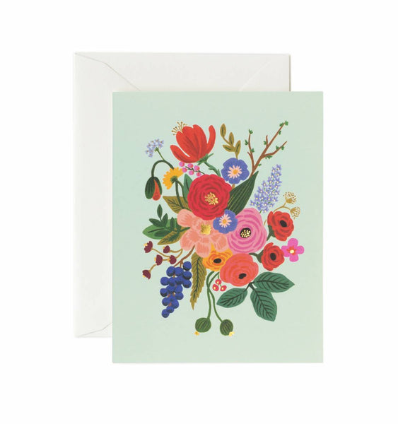card set in garden party