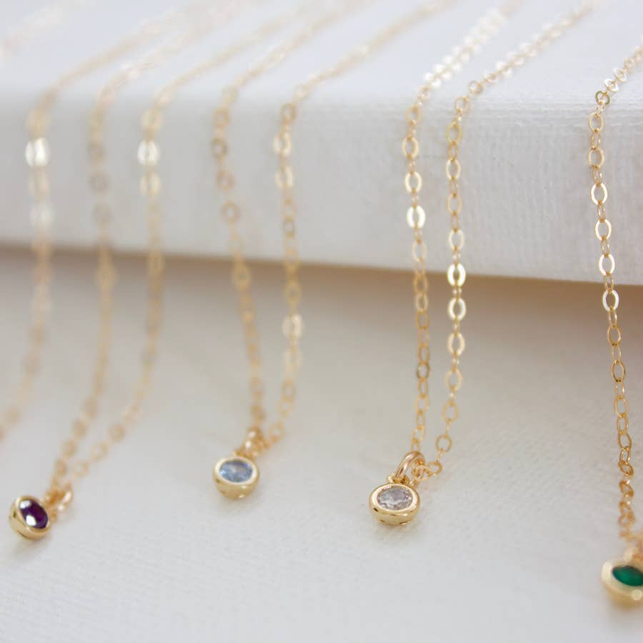 miniature birthstone necklace - Piper & Chloe