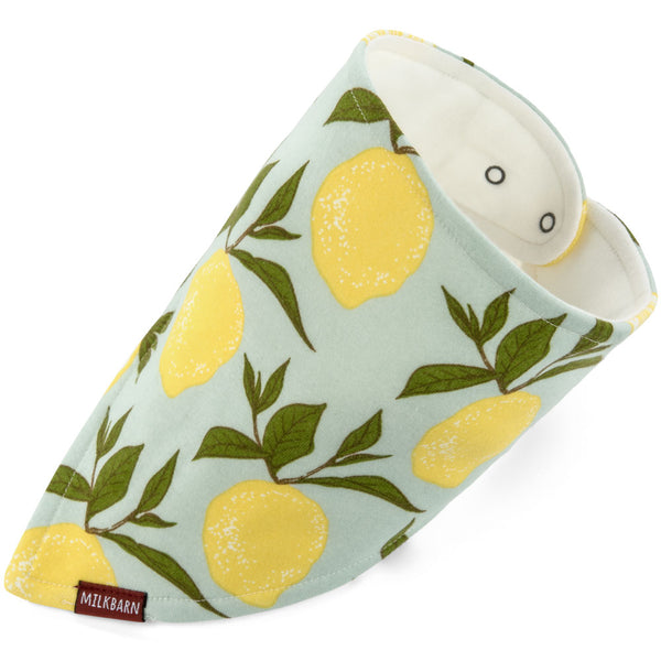 kerchief bib in lemon