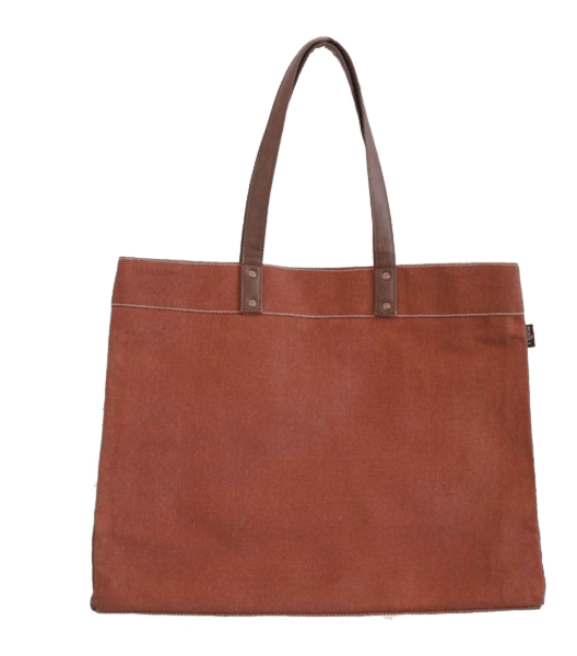 canvas carryall tote in waxed camel