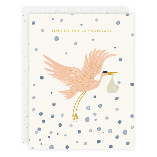 greeting card - stork delivery