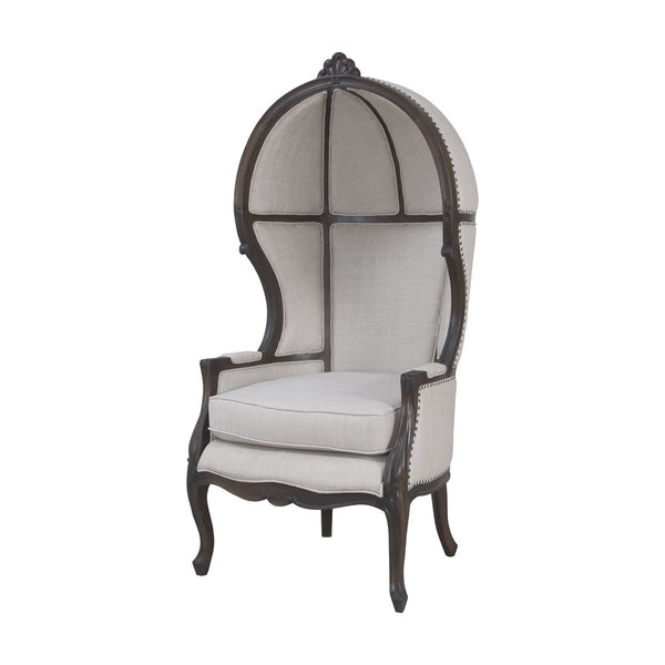 king chair in heritage grey stain