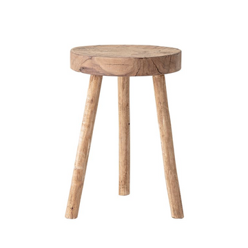 springs-reclaimed-wood-stool-end-table-plant-stand | Piper & Chloe