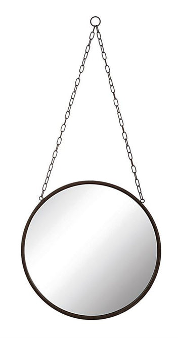 hanging black rimmed mirror - Piper & Chloe