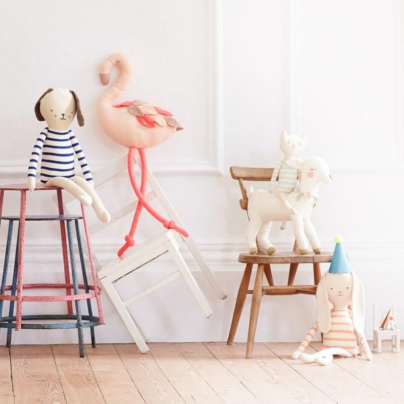 organic cotton knitted flamingo - Piper & Chloe