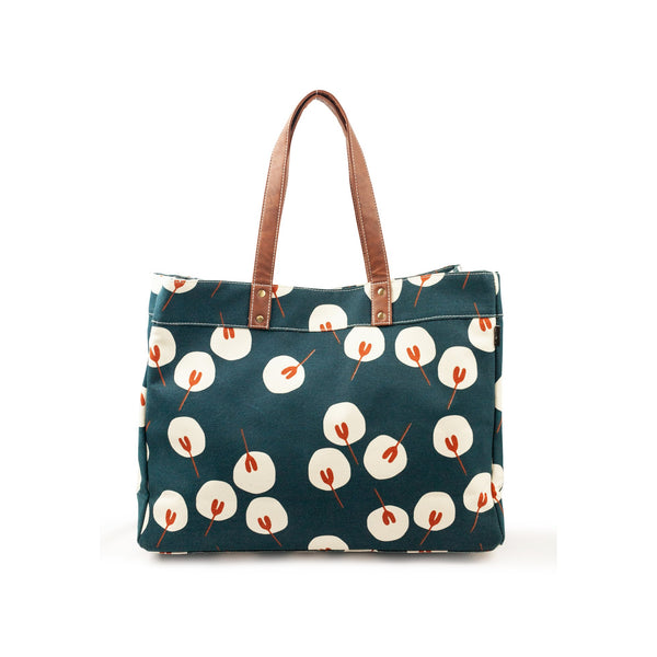 canvas carryall tote in waxed tansy
