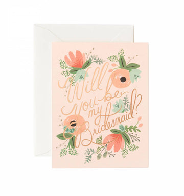 greeting card - blushing bridesmaid - Piper & Chloe