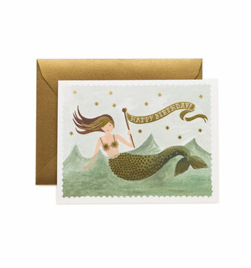 card set in vintage mermaid - Piper & Chloe