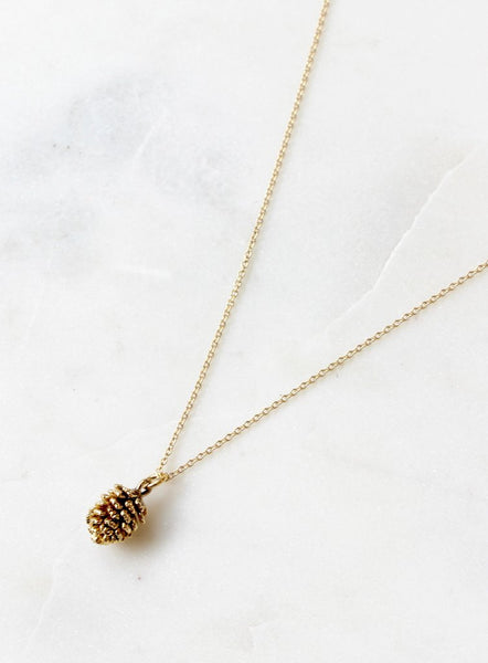 necklace with pine cone charm