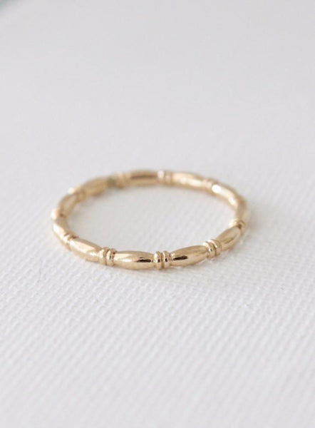 stacking ring in bamboo pattern