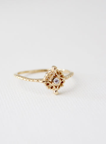 victorian filigree solitaire ring - Piper & Chloe