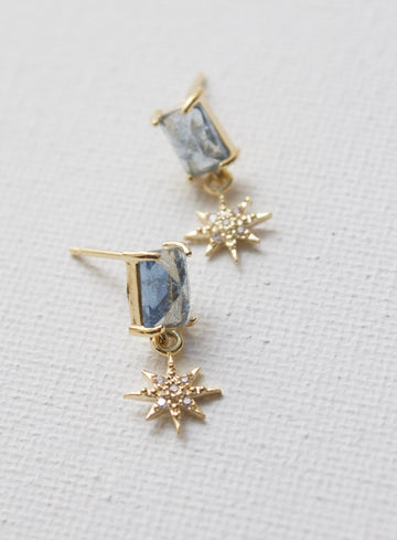 montana blue glass earrings - Piper & Chloe
