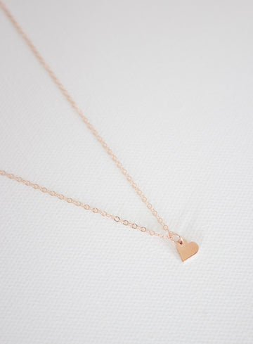 petite heart charm necklace - Piper & Chloe