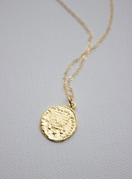 coin pendant necklace - Piper & Chloe