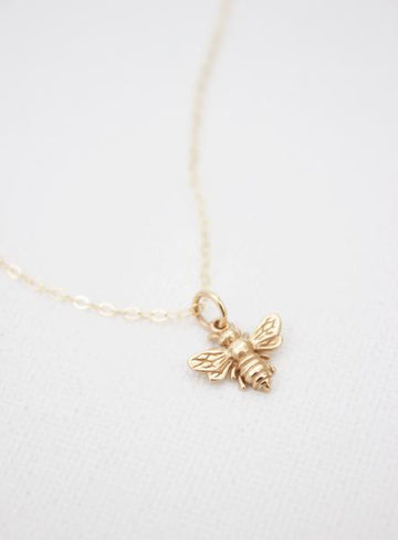 necklace with bee charm - Piper & Chloe