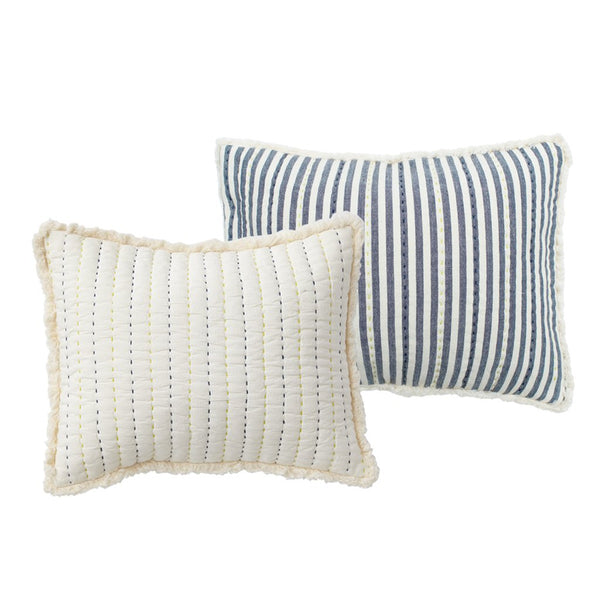 quilted nursery pillow in sweet dreams blue