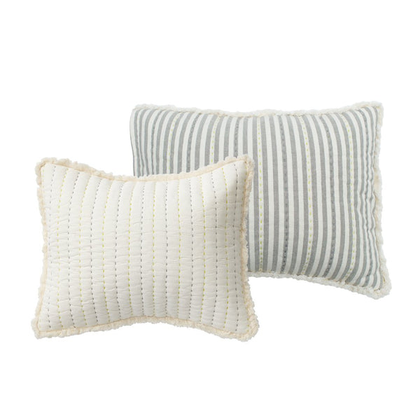 quilted nursery pillow in sweet dreams grey