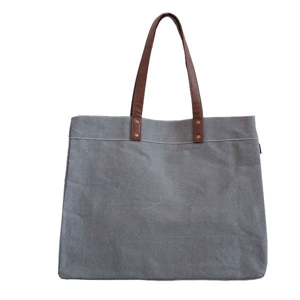 canvas carryall tote in waxed ash