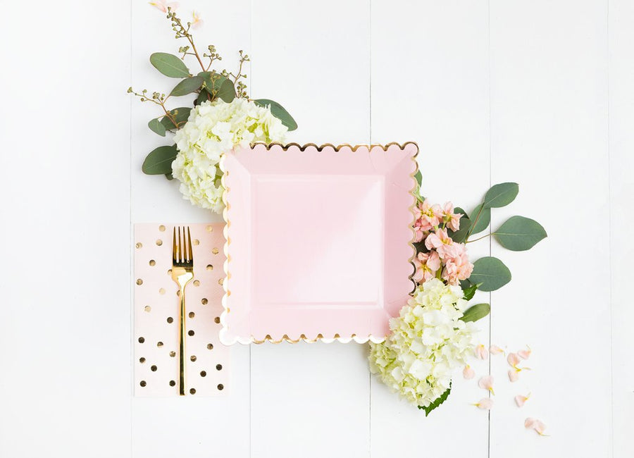 blush + gold dot dinner napkins - Piper & Chloe