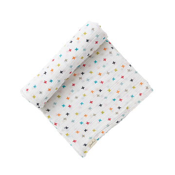 swaddle in rainbow jacks - Piper & Chloe