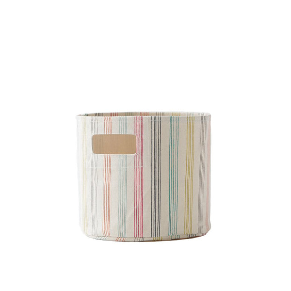 canvas storage in rainbow stripe