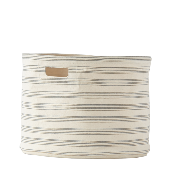 canvas drum in grey stripe