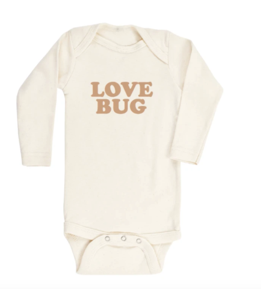 love bug long sleeve onesie in clay - Piper & Chloe