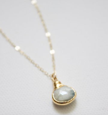 teardrop stone necklace - Piper & Chloe