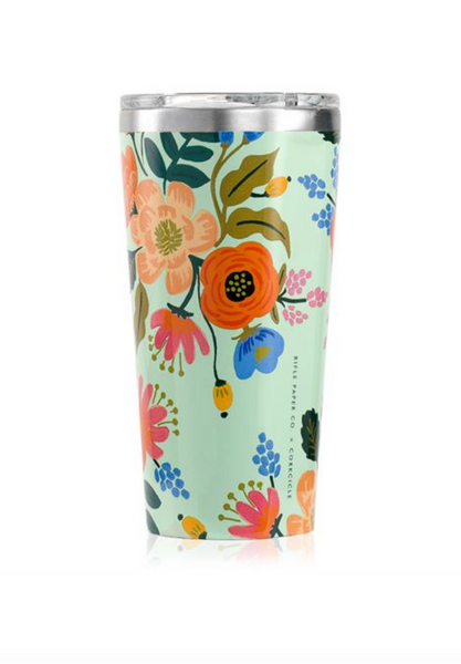 tumbler in lively floral