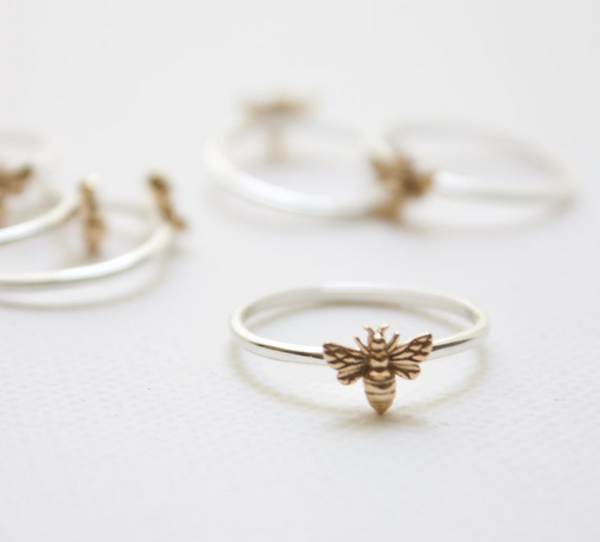 delicate bee ring