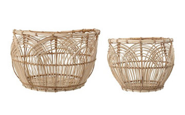 rattan basket set - Piper & Chloe