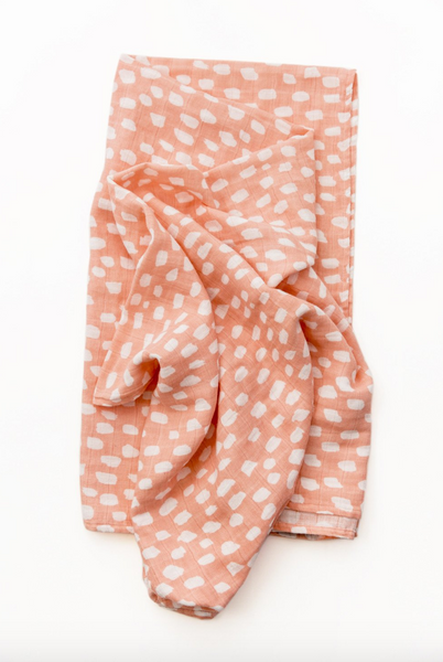 swaddle in spotted blush