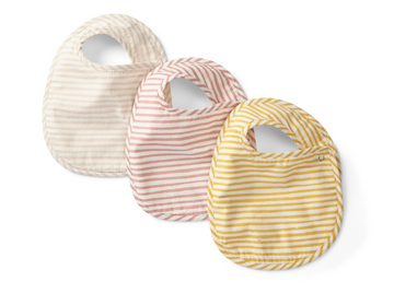 stripes away bib set in petal - Piper & Chloe