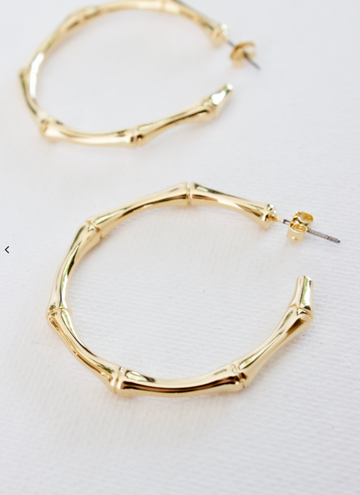 bamboo hoop earrings - Piper & Chloe