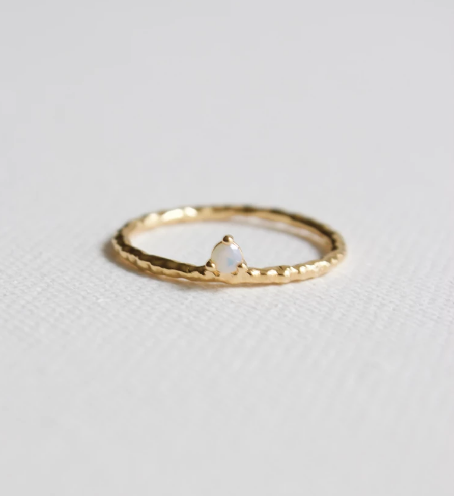 white opal stacking ring - Piper & Chloe