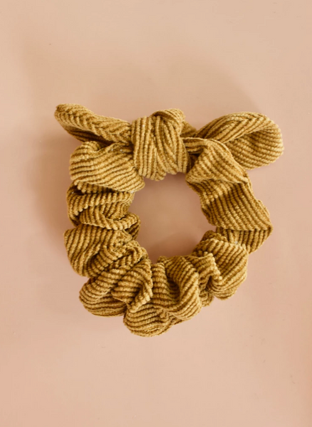 scrunchie in corduroy bow